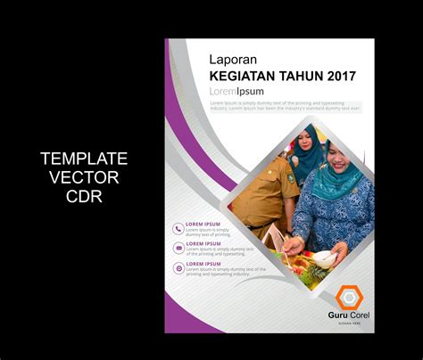 download contoh cover laporan cover pages pinterest free download cover laporan kegiatan 2017 guru corel