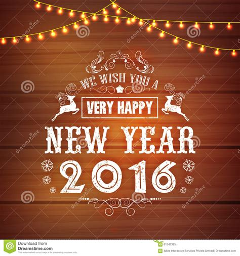 creative new year greeting cards creative greeting card for happy new year 2016 stock