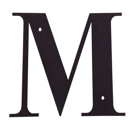 Village Wrought Iron: Letter M Large M