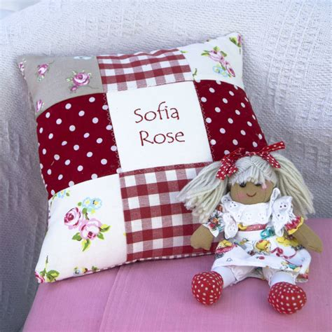 Patchwork Cushion Designs - patchwork name cushion by tuppenny house designs