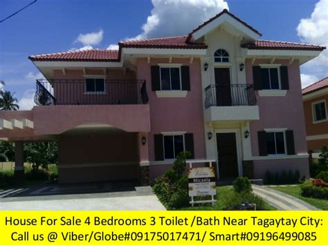 4 bedroom 3 bath house for sale 4 bedrooms house for sale near tagaytay city great value