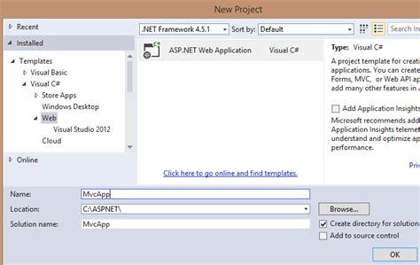 mvc templates for visual studio 2013 sree s asp net mvc 5 create an asp net mvc 5 empty