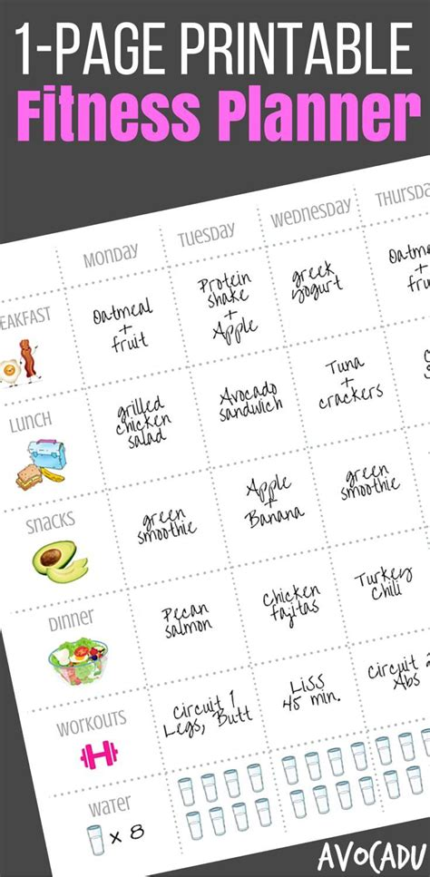 free printable diet plan to lose weight 19 best avocadu workouts images on pinterest exercise