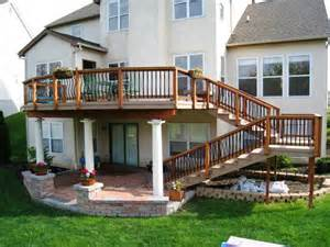 second story deck plans pictures timbertech terrain decking columbus decks porches and
