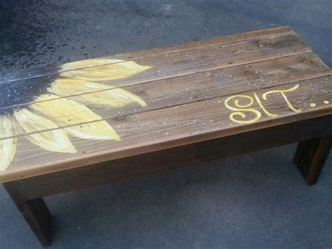 just benches sunflower bench just a picture pallet projects