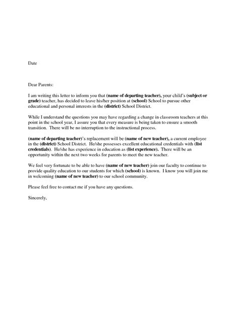 Resignation Letter High School Resignation Letter Format Writing District Letter Resignation Sle School Persue Application