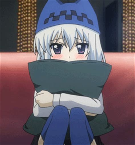 Anime Hug Gif by Huging A Pillow Gifs Find On Giphy