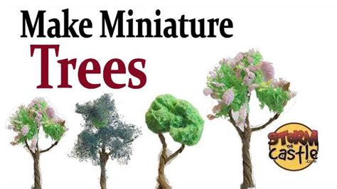 how to make trees how to make miniature trees