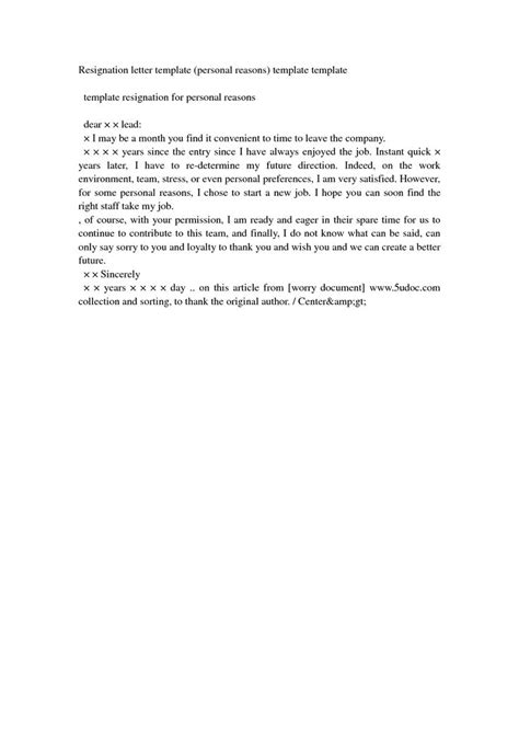 Resignation Letter Sle Personal Problem 25 Best Ideas About Sle Of Resignation Letter On Sle Of Letter
