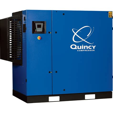 quincy qgs rotary air compressor 75 hp 460 volt 3 phase 320 cfm no tank model qgs
