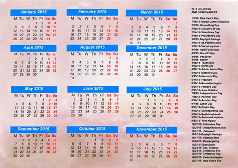 calendar with holidays calendar printable free