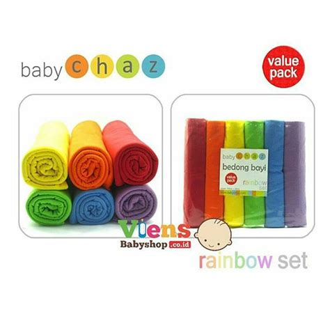 Bedong Baby Chaz Rainbow Pack bedong baby chaz rainbow set ibuhamil