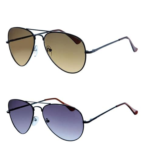 Buy Shades Shades More Cool Brown Aviator Sunglasses Buy 1 Get 1