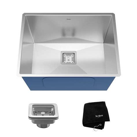zero radius kitchen sink kraus pax zero radius undermount stainless steel 24 in