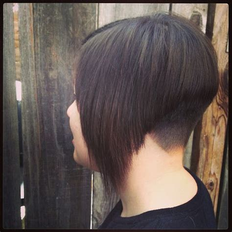 wedge back bob haircut angled inverted bob with clipper cut nape inverted bob s