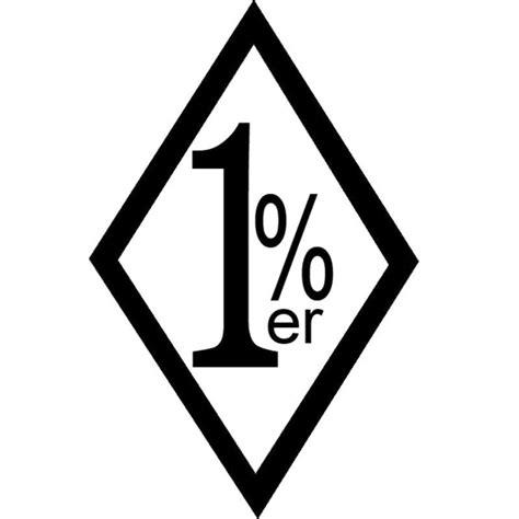 Cutting Sticker Abs 9cm 9 6x15cm 1 er one percent outlaw biker vinyl decal