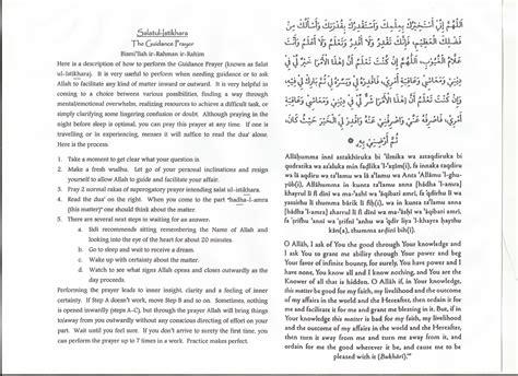 printable version of uniform guidance istikhara prayer the guidance prayer find peace