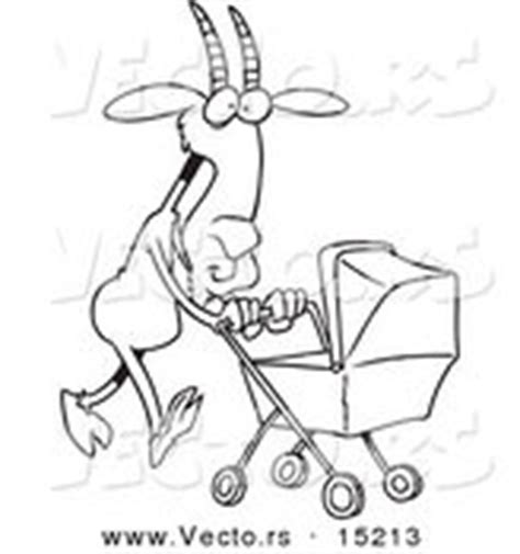 nanny goat coloring page royalty free stock designs of strollers