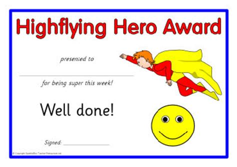 superhero award certificates sb8400 sparklebox