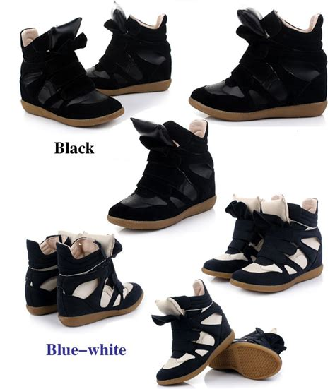 casual wedge sneaker boots blue wholesale free shipping