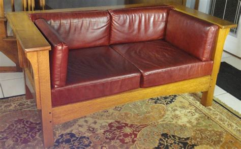 Prairie Style Sofa by Handmade Prairie Style Settle By Mostly Mission Furniture