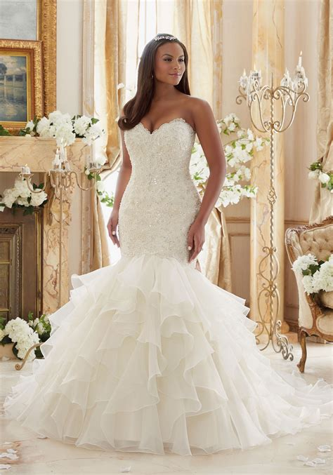 Wedding Plus Size Dresses by Plus Size Lace Meets Organza Wedding Dress Style 3201