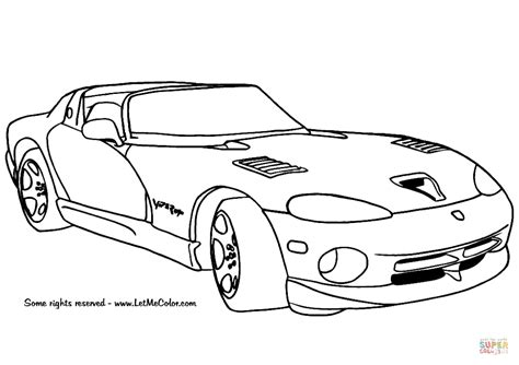 dodge viper coloring page free printable coloring pages