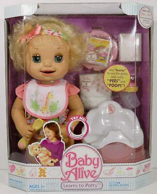american baby alive potty 2007 new learns to potty baby alive doll magnetic bottle