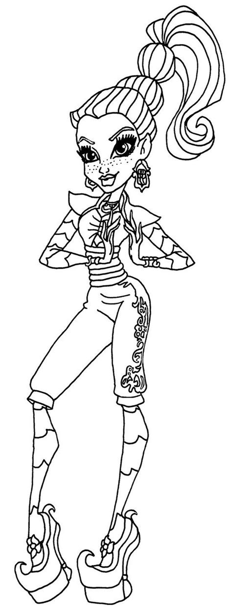Monster High Coloring Pages 13 Wishes Gigi | monster high gigi grant coloring picher gigi grant by