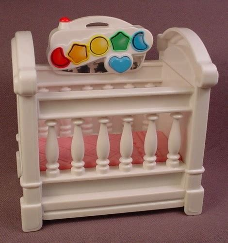Fisher Price Baby Crib Fisher Price Loving Family Dollhouse 1999 White Musical Baby Crib With Pink Mattress Rons