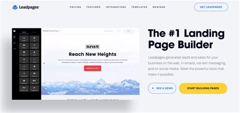 Which Landing Page Builder Is Easiest To Use Leadpages Landing Page Templates
