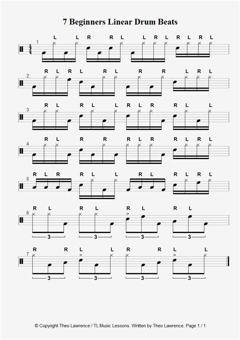 drum pattern velocity 7 linear drum beats for beginners and the mieze 183 katze