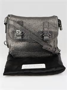 10 Fabulous Yves Laurent Bags by Yves Laurent Silver Volcano Crackled Leather Small