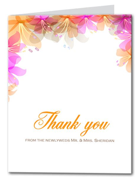hawaiian thank you card template thank you cards