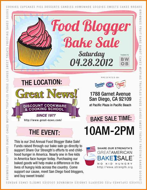 How To Make A Bake Sale Flyer Bake Sale Flyers Authorization Letter Pdf
