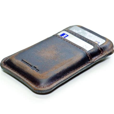 Handcrafted Leather Wallet - handmade leather iphone wallet gadgetsin