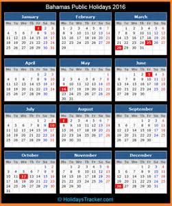 Bahamas Calendã 2018 Bahamas Holidays 2016 Holidays Tracker