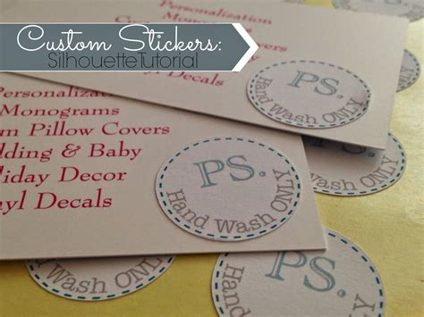project 101 pocikita info template sticker label silhouette cameo projects and tutorials for beginners my