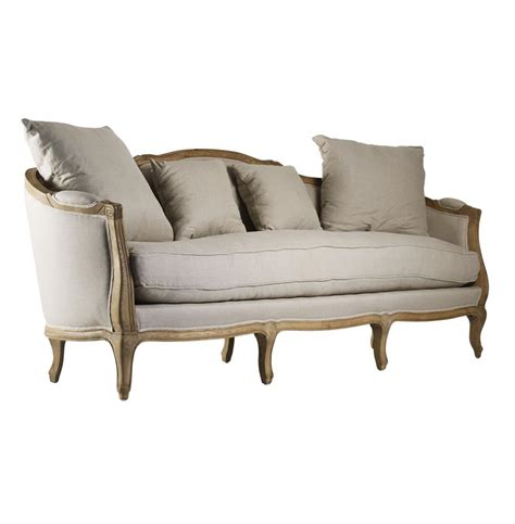 rue du bac french country linen feather down sofa kathy