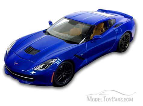 car toy blue chevy corvette stingray blue maisto 31677 1 18 scale