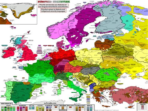 europes natural and cultural 8460797902 languages in europe map