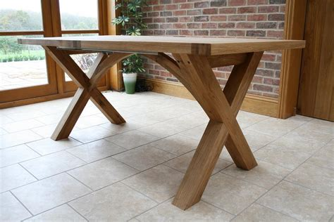 diy table with cross legs dining table dining table leg designs