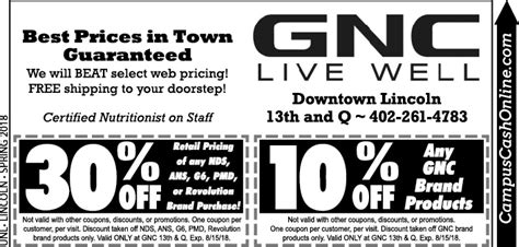 gnc new year promotion gnc unl cus coupons a web coupon brought to