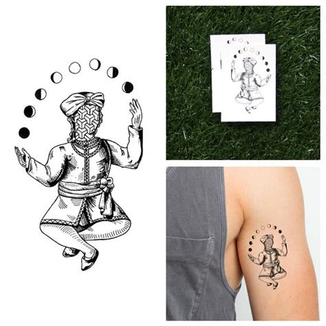 24 hour tattoo shops near me moon phase juggler temporary set of 2