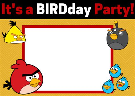 free printable birthday invitations angry birds free angry birds invitations download and customize