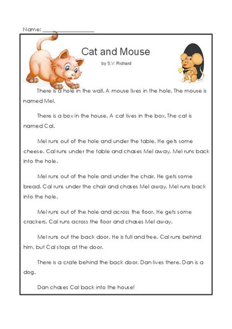 reading comprehension test online for cat cat and mouse cats comprehension and read more