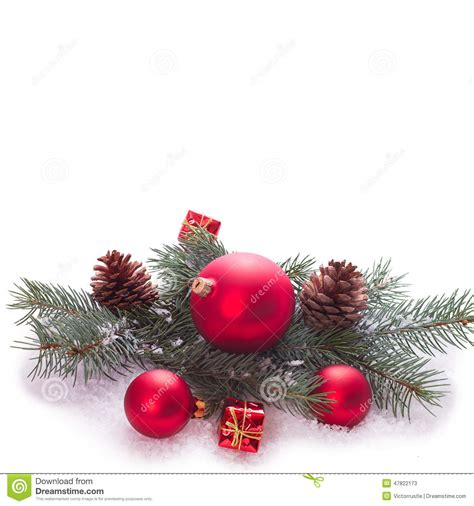 tree with baubles tree with baubles stock photo image 47822173