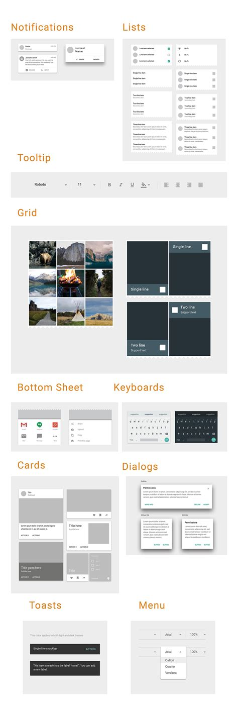 material design google kit material design adobe xd ui kit freebie supply