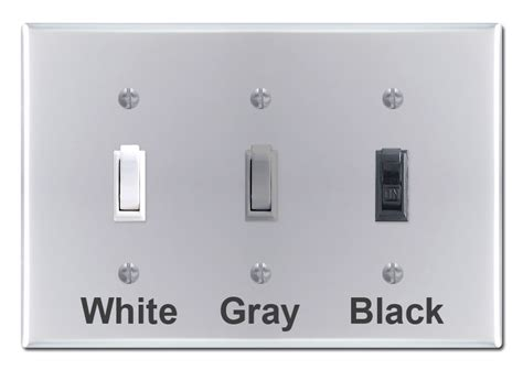 chrome wall switch plates