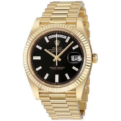 rolex oyster perpetual  yellow gold diamond mens